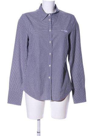 Marc O'Polo Hemd-Bluse blau-weiß Karomuster Casual-Look