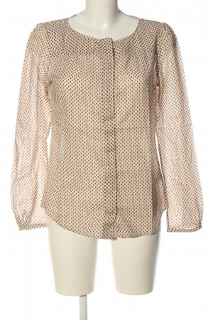 Marc O'Polo Hemd-Bluse creme-rot Allover-Druck Casual-Look