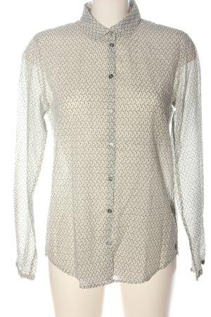 Marc O'Polo Hemd-Bluse creme-schwarz Allover-Druck Casual-Look
