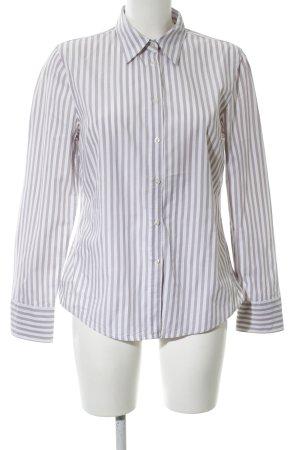 Marc O'Polo Hemd-Bluse weiß-hellgrau Streifenmuster Business-Look