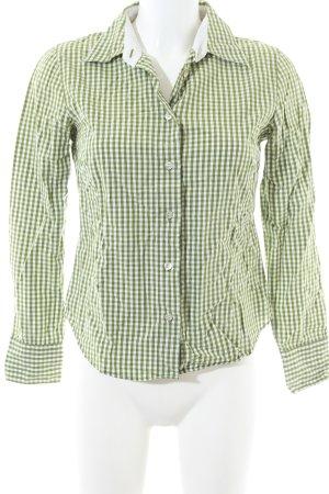 Marc O'Polo Hemd-Bluse grün-weiß Allover-Druck Casual-Look
