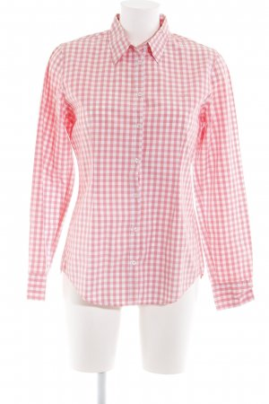 Marc O'Polo Hemd-Bluse weiß-rot Karomuster Casual-Look