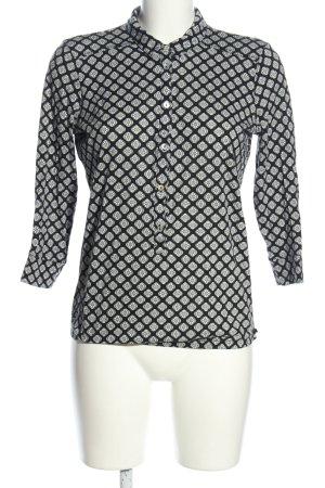 Marc O'Polo Hemd-Bluse weiß-schwarz Allover-Druck Casual-Look