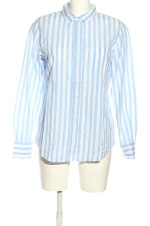 Marc O'Polo Hemd-Bluse weiß-blau Streifenmuster Casual-Look