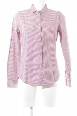 Marc O'Polo Hemd-Bluse weiß-ziegelrot Streifenmuster Business-Look