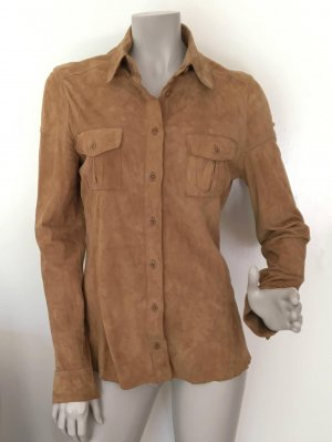 Marc O'Polo Leather Blouse camel leather