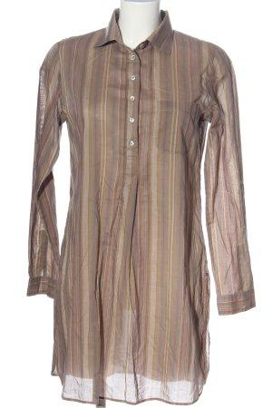 Marc O'Polo Hemdblusenkleid braun-wollweiß Streifenmuster Casual-Look