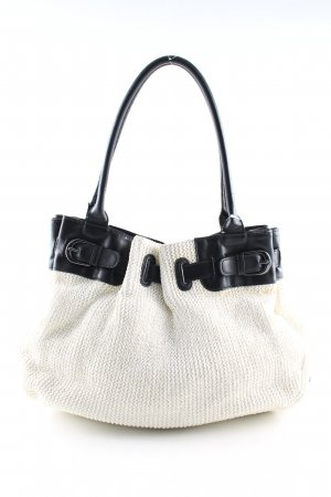 Marc O'Polo Bolso barrel blanco puro-negro look casual