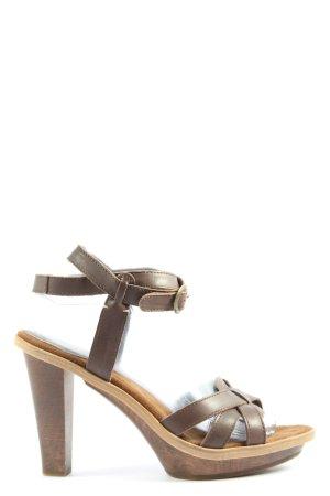 Marc O'Polo High Heel Sandaletten braun Elegant