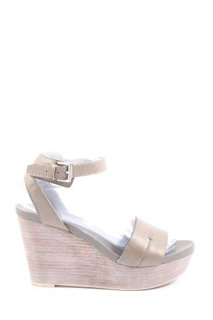 Marc O'Polo High Heel Sandaletten creme Casual-Look