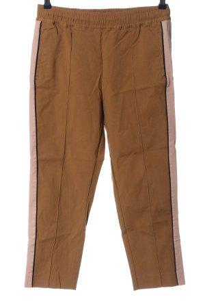 Marc O'Polo Spodnie z wysokim stanem brązowy-różowy W stylu casual