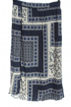 Marc O'Polo Falda de talle alto azul-blanco look casual
