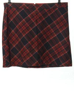 Marc O'Polo Rok met hoge taille zwart-rood volledige print zakelijke stijl