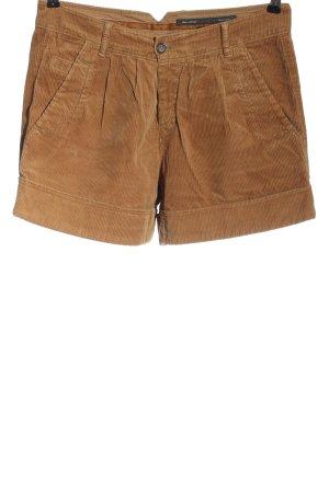 Marc O'Polo Szorty z wysokim stanem brązowy Wzór w paski W stylu casual
