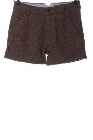 Marc O'Polo High-Waist-Shorts braun meliert Casual-Look