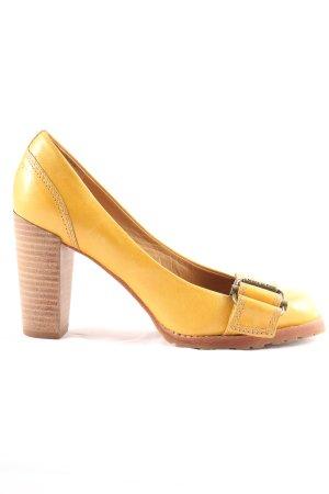 Marc O'Polo High Heels blassgelb Casual-Look