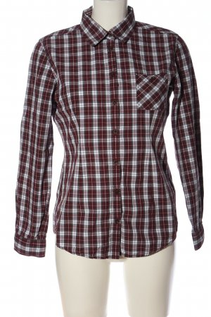 Marc O'Polo Houthakkershemd rood-lichtgrijs geruite print casual uitstraling