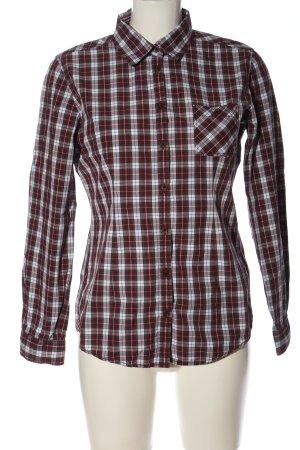 Marc O'Polo Camisa de leñador rojo-gris claro estampado a cuadros look casual