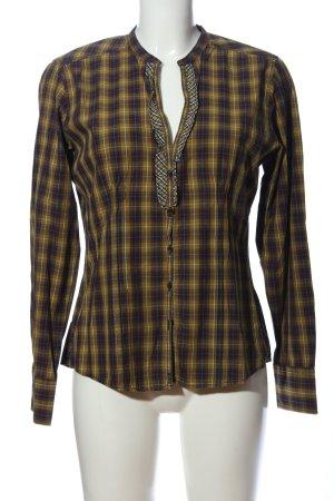 Marc O'Polo Holzfällerhemd braun-blassgelb Karomuster Casual-Look