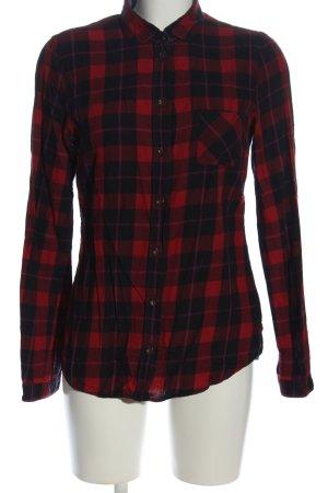 Marc O'Polo Camisa de leñador negro-rojo estampado a cuadros look casual