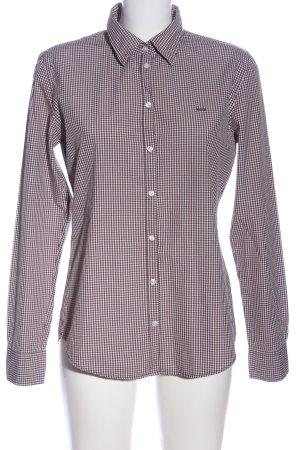 Marc O'Polo Holzfällerhemd braun-weiß Karomuster Casual-Look