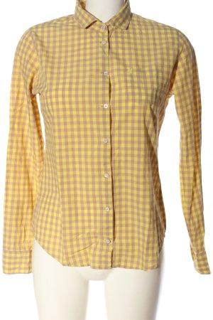 Marc O'Polo Holzfällerhemd blassgelb-braun Karomuster Casual-Look