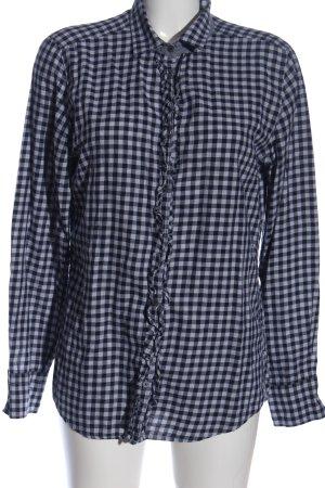 Marc O'Polo Holzfällerhemd schwarz-hellgrau Karomuster Casual-Look