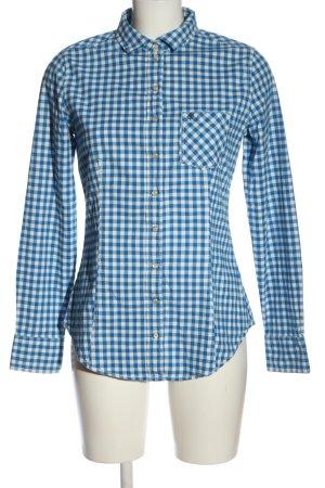 Marc O'Polo Camicia da boscaiolo bianco-blu stampa integrale stile casual