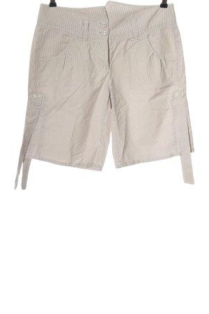 Marc O'Polo Short moulant crème-blanc motif rayé style décontracté