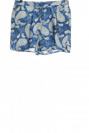 Marc O'Polo Pantalón corto azul-blanco estampado con diseño abstracto