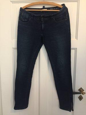 Marc O'Polo pantalón de cintura baja azul oscuro Algodón