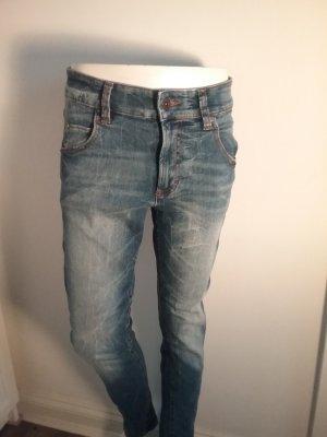 Marc O'Polo Jeans taille haute cognac-bleu azur