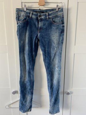 Marc O'Polo Jeans taille basse bleu foncé coton