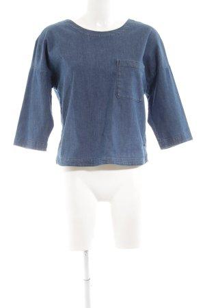Marc O'Polo Jeansbluse blau Casual-Look