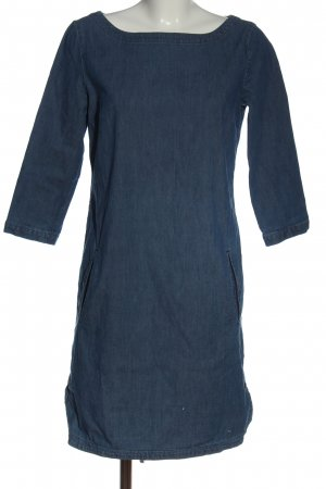 Marc O'Polo Jeansjurk blauw gestippeld casual uitstraling