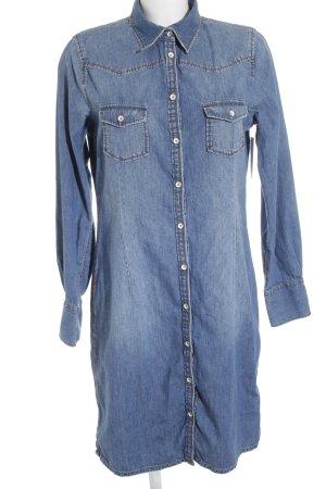 Marc O'Polo Jeanskleid neonblau Jeans-Optik