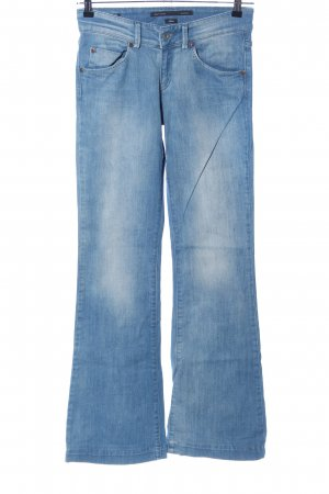 Marc O'Polo Spijker flares blauw casual uitstraling