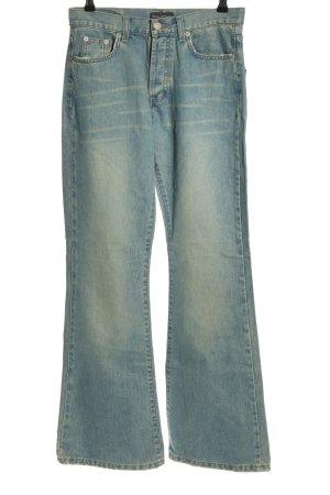 Marc O'Polo Jeansowe spodnie dzwony niebieski W stylu casual