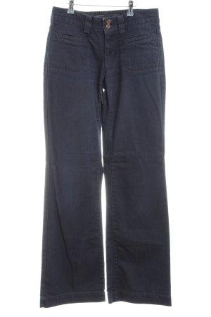 Marc O'Polo Jeansschlaghose dunkelblau Casual-Look