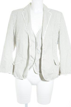 Marc O'Polo Jersey Twin Set grau-weiß Streifenmuster Dandy-Look