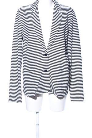 Marc O'Polo Jerseyblazer schwarz-weiß Streifenmuster Casual-Look