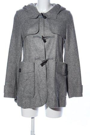 Marc O'Polo Cappotto con cappuccio grigio chiaro puntinato stile casual