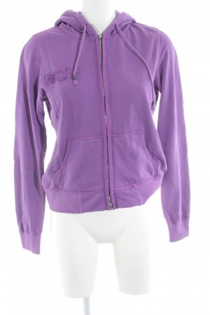 Marc O'Polo Kapuzenpullover violett Motivdruck Street-Fashion-Look