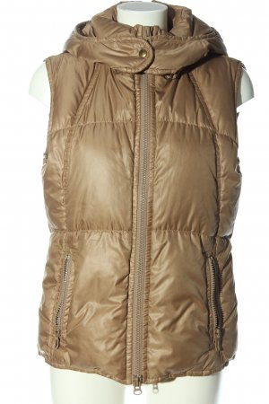 Marc O'Polo Capuchon vest wolwit quilten patroon casual uitstraling