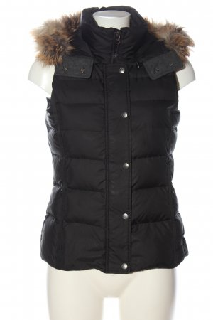 Marc O'Polo Hooded Vest black quilting pattern casual look