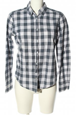 Marc O'Polo Checked Blouse light grey-white check pattern casual look