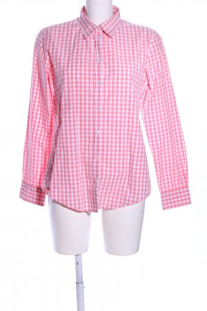 Marc O'Polo Karobluse pink-weiß Karomuster Casual-Look