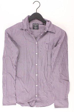Checked Blouse lilac-mauve-purple-dark violet cotton