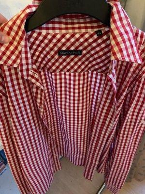 Marc O'Polo Camisa de franela rojo oscuro
