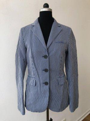Marc O'Polo Klassischer Blazer blau-weiß Streifenmuster Casual-Look